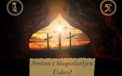 Uskrsna čestitka Frame i OFS-a Bosne Srebrene