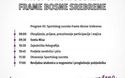 Raspored utakmica i upute za XV. Sportski susret Frame Bosne Srebrene
